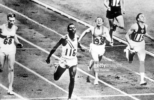 Olympic Games Melbourne Australia Mens 400 metres Final USA's Charles Jenkins wins the Gold Medal