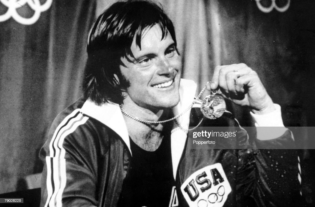 1976 Olympic Games. Montreal, Canada. Men's Decathlon. USA's gold medal winner Bruce Jenner. : News Photo
