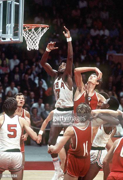 Olympic Games Munich West Germany Basketball Final USSR 51 v USA 50 USA on the attack during the match which was won by USSR for the gold medal The...