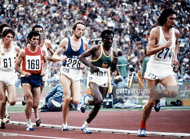 Olympic Games Munich West Germany Men's 10000 metres Final Lasse Viren of Finland on his way to win the Gold medal