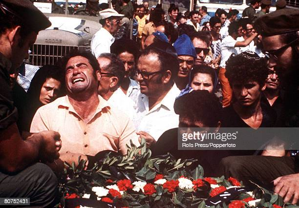 Olympic Games Munich West Germany September 1972 The bodies of Israeli athletes are flown home from the Munich Games after they were murdered by Arab...