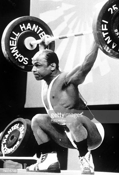 Olympic Games, Munich, West Germany, Weightlifting, Bantamweight, Great Britain's Precious McKenzie in action