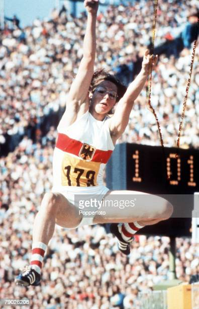 Olympic Games Munich West Germany Women's Long Jump West Germany's Heidi Rosendahl in action to win the gold medal