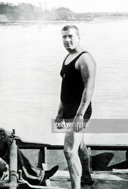 Olympic Games, Paris, France, 1000 metres Swimming, Great Britain's John Jarvis, winner of the gold medal
