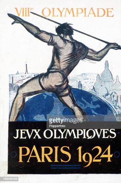 Olympic Games, Paris, France, A postcard to advertise the 1924 Olympic Games
