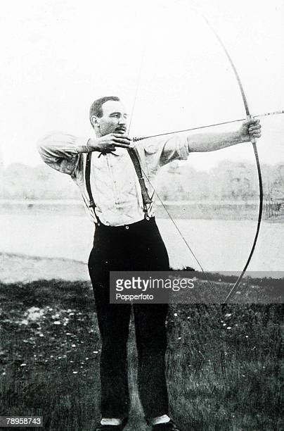 Olympic Games, Paris, France, Archery,France's Henri Herouin, winner of the gold medal in the 50 metre event