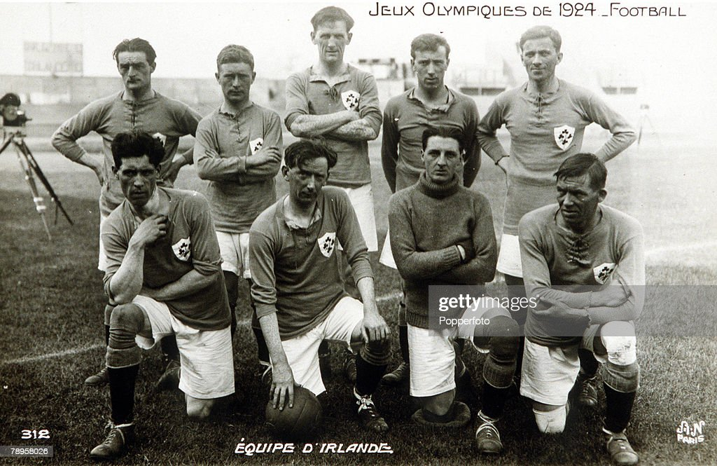 1924 Olympic Games. Paris, France. Football. The Ireland soccer team. : News Photo