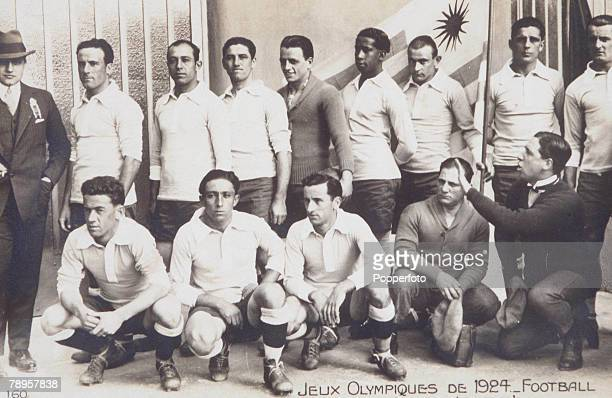 Olympic Games Paris France Football The Uruguayan team that won the gold medal