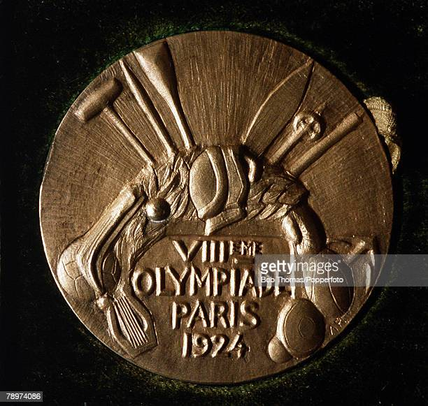 Olympic Games Paris France FootballThe gold medal awarded to Jose Nasazzi