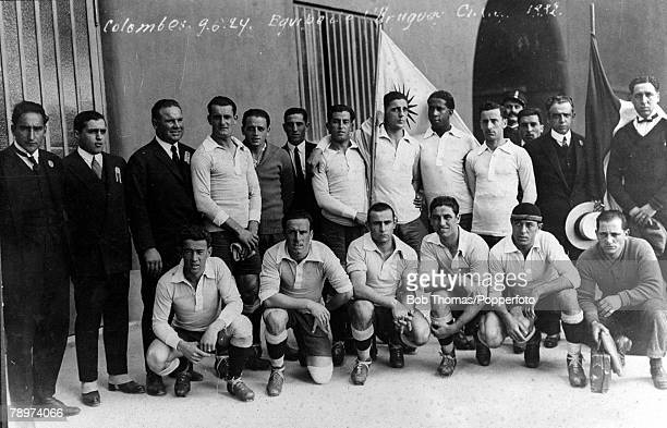 Olympic Games Paris France FootballUruguay The Olympic Champions captained by Jose Nasazzi