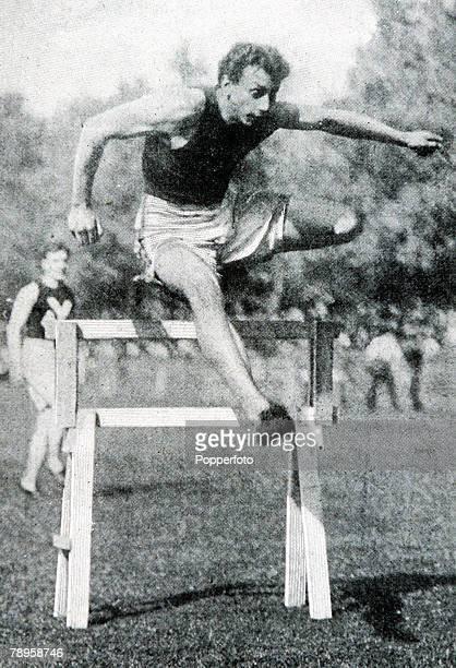 Olympic Games, Paris, France, Mens 110 Metres Hurdles, USA's Alvin Kraenzlein winner of thegold medal and winner of 4 gold medals during the games