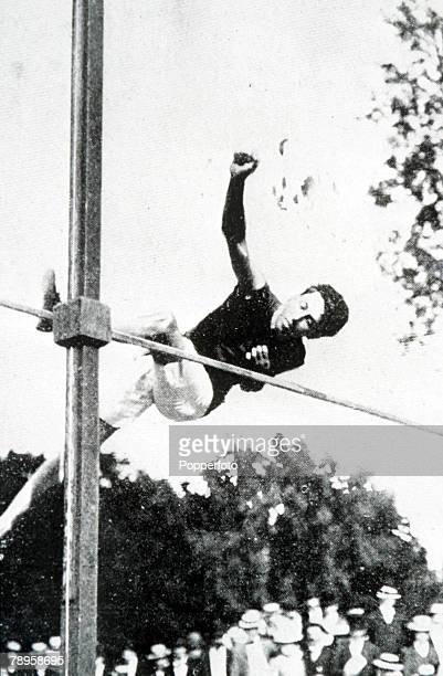 Olympic Games, Paris, France, Men's High Jump,USA's gold medal winner Irving Baxter in action