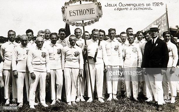 Olympic Games, Paris, France, Opening Ceremony, The Estonian team at the opening ceremony