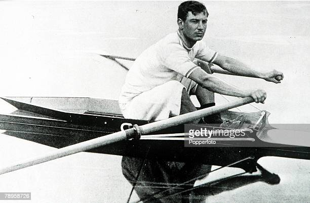 Olympic Games, Paris, France, Rowing, France's Louis Prevel