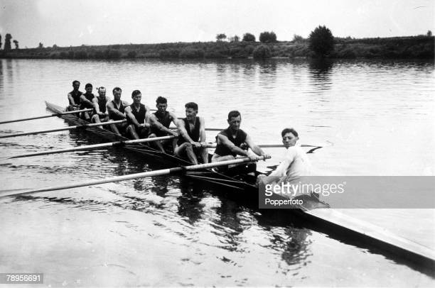 Olympic Games Paris France Rowing The Australian rowing eight at the games