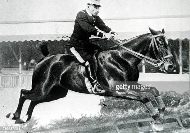 "Olympic Games, Paris, France, Show-jumping, Prix de Nations, Individual, H, De Champsavin riding the horse ""Terpsichore"""