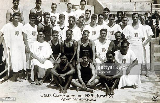 Olympic Games Paris France Swimming The United States swimming team