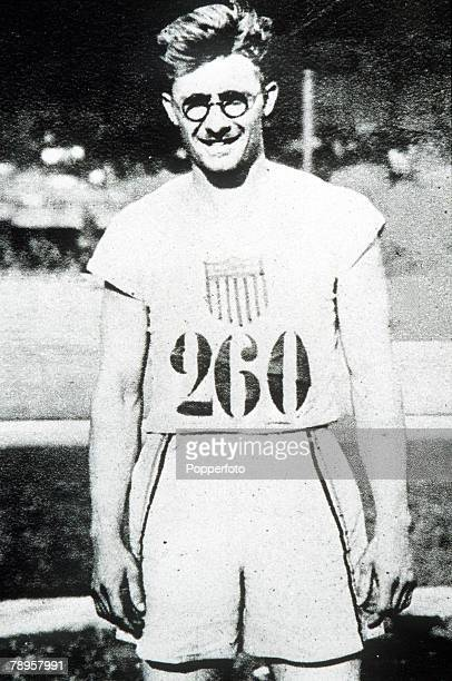 Olympic Games Paris France USA's Harold Osborn who won the gold medal in the High jump and Decathlon events