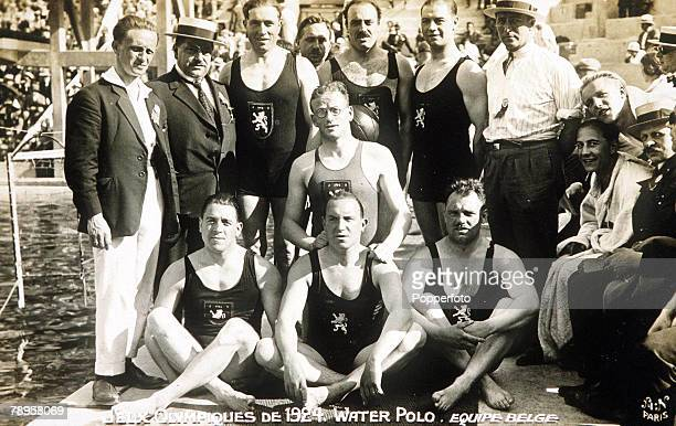 Olympic Games Paris France Water PoloThe Belgium team who won the silver medal