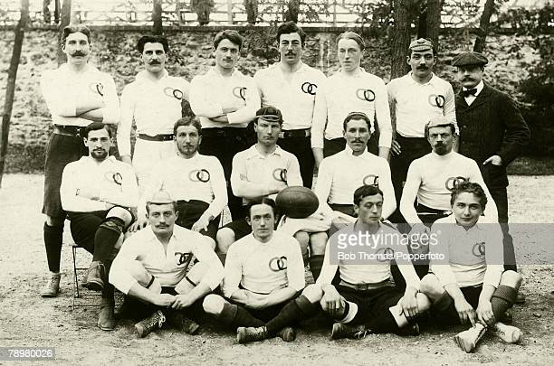 Olympic Games Paris October 28th 1900 Rugby Union Winners of the Gold Medal France The French team pictured before the gold medal match in which they...