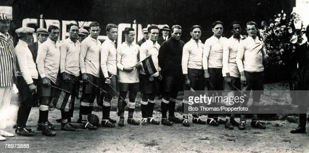 Olympic Games, Paris, The Uruguayan football team pose for a team group in Vigo, Northern Spain during preparations for the Olympic Games