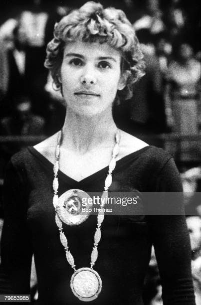 Olympic Games Rome Italy Gymnastics USSR's Larisa Latynina who won 3 Gold Medals 2 Silver Medals and 1 Bronze Medal at the Games