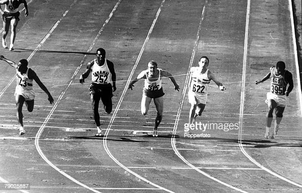 Olympic Games Rome Italy Men's 100 Metres SemiFinal Great Britain's Peter Radford wins the heat to qualify for the Final in which he won the bronze...