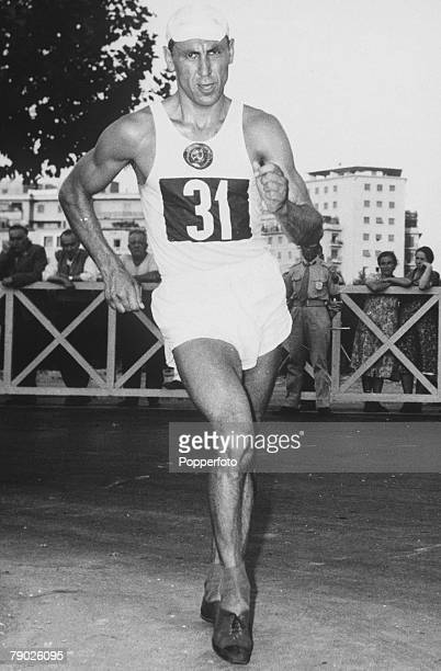 Olympic Games Rome Italy Men's 20 Kilometres Walk USSR's Golubnichiy in action to win the gold medal