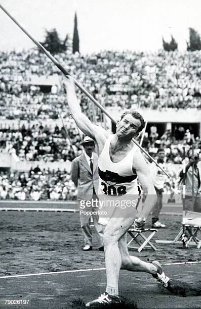Olympic Games Rome Italy Men's Javelin Germany's W Kruger in action to win the silver medal