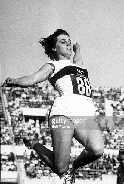 Olympic Games Rome Italy Womens Long Jump Final Germany's Bronze Medal winner Hildrun Claus in action