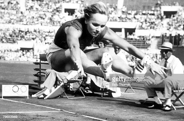 Olympic Games Rome Italy Womens Long Jump USSR's Gold Medal winner Vyera Krepkina who also set an Olympic Record of 20 feet 10 inches