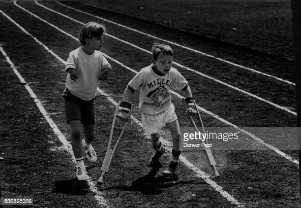 Olympic Games Special Miller Mustangs Stick Together During Qualifying Meet for US Special Olympics Sponsored by Joseph P Kennedy Foundation Steven...