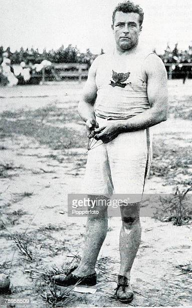 Olympic Games, St, Louis, USA, Throwing the Hammer, USA's John Flanagan who won the gold medal