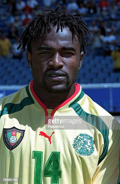 Olympic Games Sydney Australia Football Cameroon beat Spain 53 on penalty's after a 22 draw 30th September Patrice Suffo of Cameroon