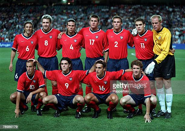 Olympic Games Sydney Australia Football Chile beat USA in the Bronze Medal match 29th September USA team group photo