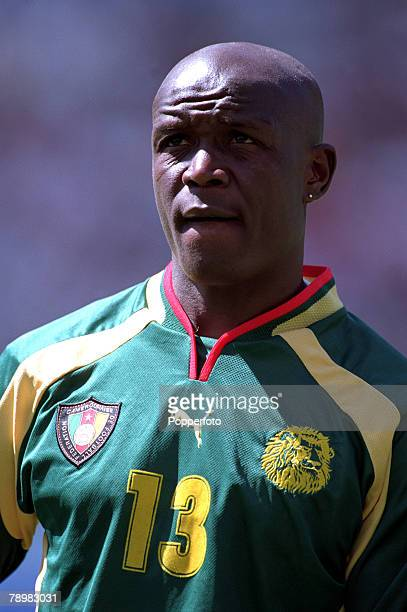 Olympic Games Sydney Australia Football Final Cameroon beat Spain 53 on penalty's after a 22 draw 30th September Aaron Nguimbat of Cameroon