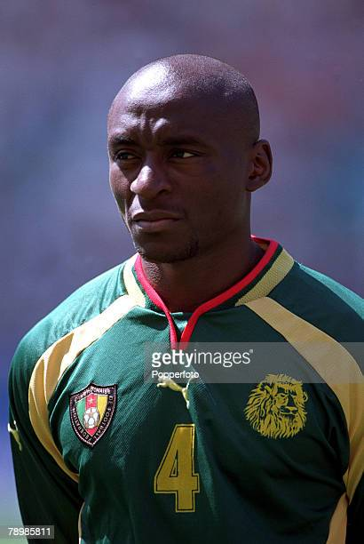 Olympic Games Sydney Australia Football Final Cameroon beat Spain 53 on penalty's after a 22 draw 30th September Serge Mimpo of Cameroon