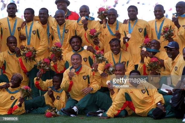Olympic Games Sydney Australia Football Final Cameroon beat Spain 53 on penalty's after a 22 draw 30th September Cameroon team show off their Gold...