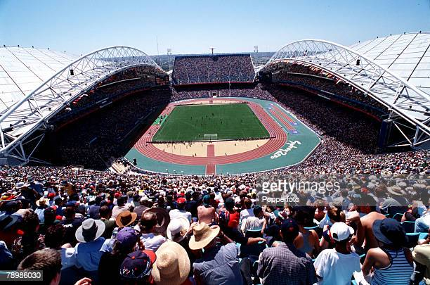 Olympic Games Sydney Australia Football Final Cameroon beat Spain 53 on penalty's after a 22 draw 30th September Crowds watch the football