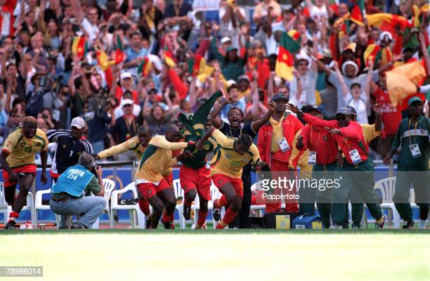 Olympic Games Sydney Australia Football FinalCameroon beat Spain 53 on penalty's after a 22 draw 30th September Cameroon bench celebrate victory