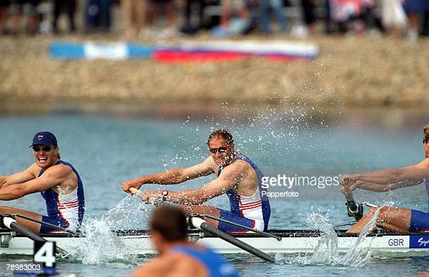 Olympic Games Sydney Australia Rowing Men's Coxless Fours Final 23rd September Steven Redgrave and members of the Great Britain team in action during...