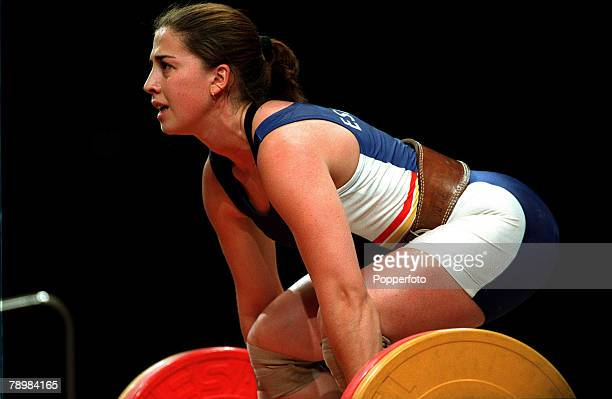 Olympic Games Sydney Australia Womens Weightlifting 63 kg 19th September Josefa Perez of Spain prepares to lift