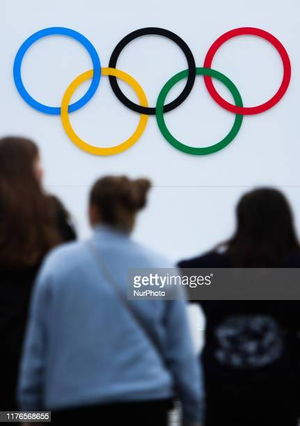 Olympic Games symbol is seen in Krakow Poland on October 5 2019