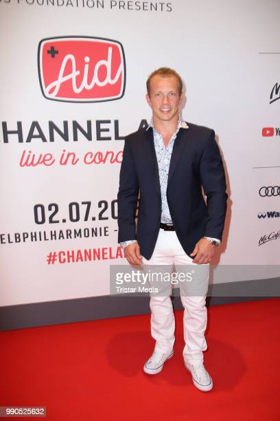 Olympic gold madalist Fabian Hambuechen attends the Channel Aid concert on July 2 2018 in Hamburg Germany