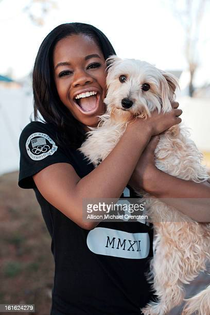 Olympic gold medal gymnast Gabby Douglas is photographed for People Magazine on November 28 2012 in Virginia Beach Virginia
