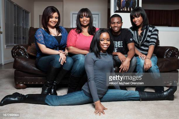 Olympic gold medal gymnast Gabby Douglas is photographed with family for People Magazine on November 28 2012 in Virginia Beach Virginia PUBLISHED...