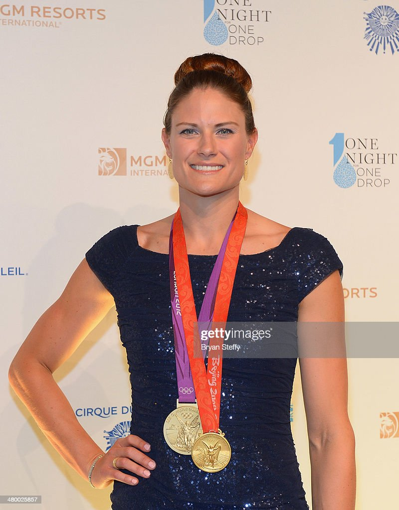 Olympic Gold Medal rower Susan Francia arrives at Cirque du Soleil's 2nd annual 'One Night for One Drop' at Aureole Las Vegas at the Mandalay Bay Resort and Casino on March 21, 2014 in Las Vegas, Nevada.