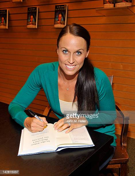 Olympic Gold Medal Swimmer Amanda Beard signs copies of her new book 'In The Water They Can't See You Cry' at Barnes Noble on the 3rd Street...