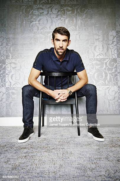 Olympic gold medal swimmer Michael Phelps is photographed for Forbes Magazine on October 17 2016 in New York City CREDIT MUST READ Jamel Toppin/The...