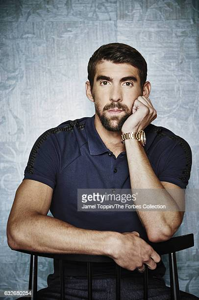 Olympic gold medal swimmer Michael Phelps is photographed for Forbes Magazine on October 17 2016 in New York City PUBLISHED IMAGE CREDIT MUST READ...